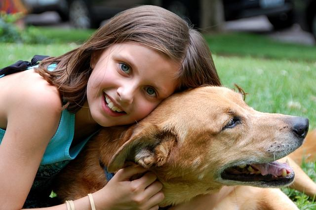 enfants et chien